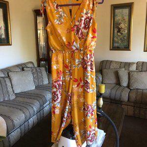 AS U WISH Floral Dress Pants Size M